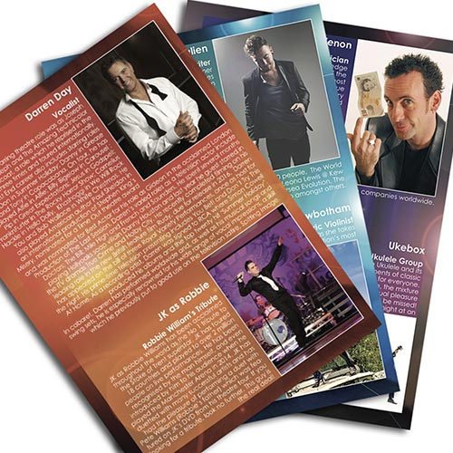 Ingenious Design UK Theatrical Promiotn posters flyers banners leaflets editorial
