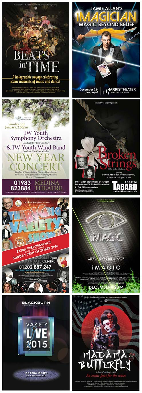 Theatre Marketing graphic design by Ingenious Design UK